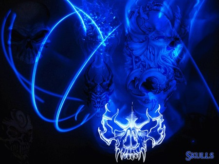 Collection of Blue Skulls Wallpaper on HDWallpapers