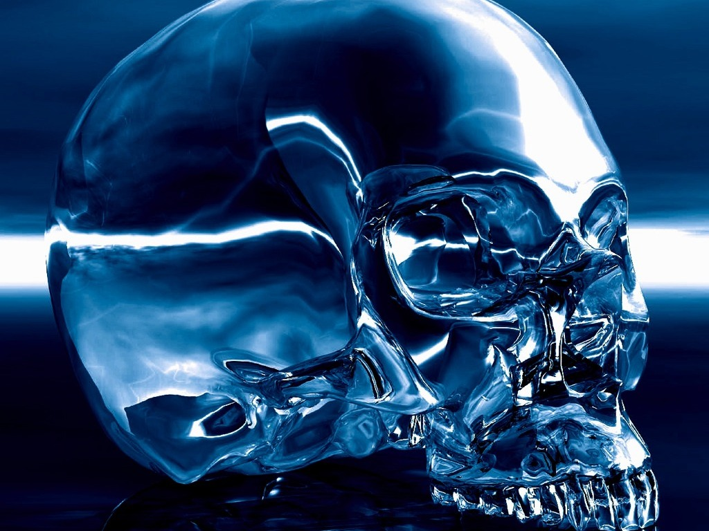 Blue Skull Wallpaper - WallpaperSafari