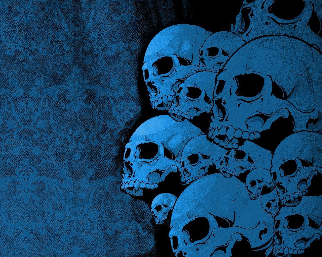 Blue Skull Wallpapers - Wallpaper Cave