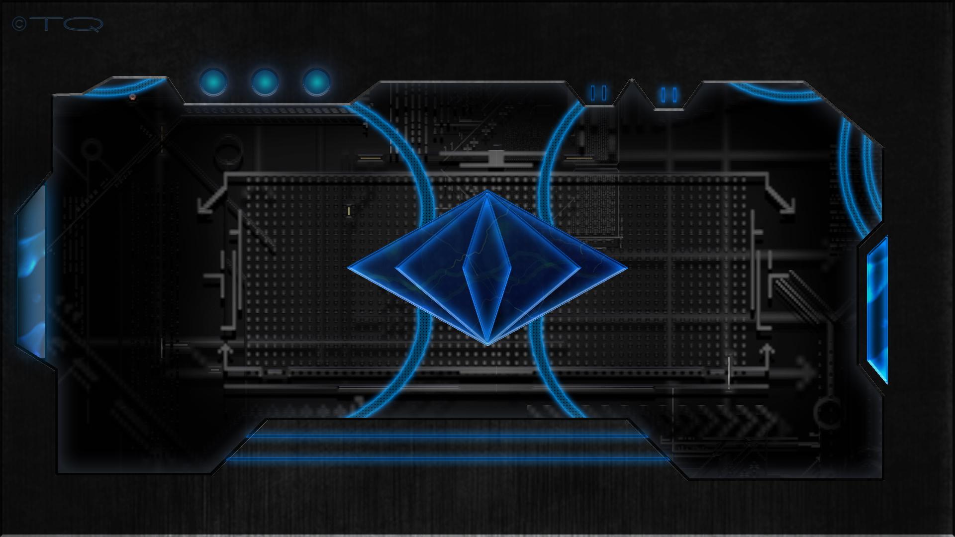blue tech wallpaper - sf wallpaper