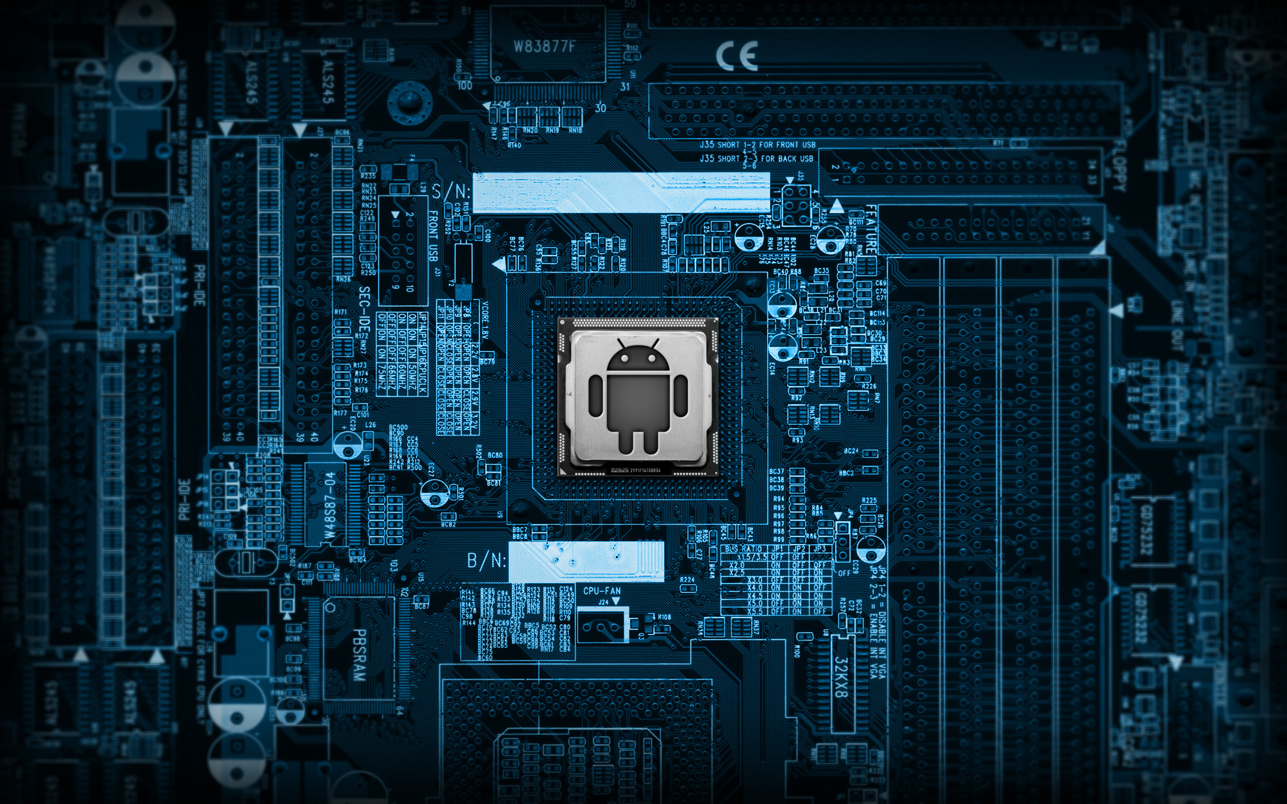 Blue Tech Wallpapers Group (85+)