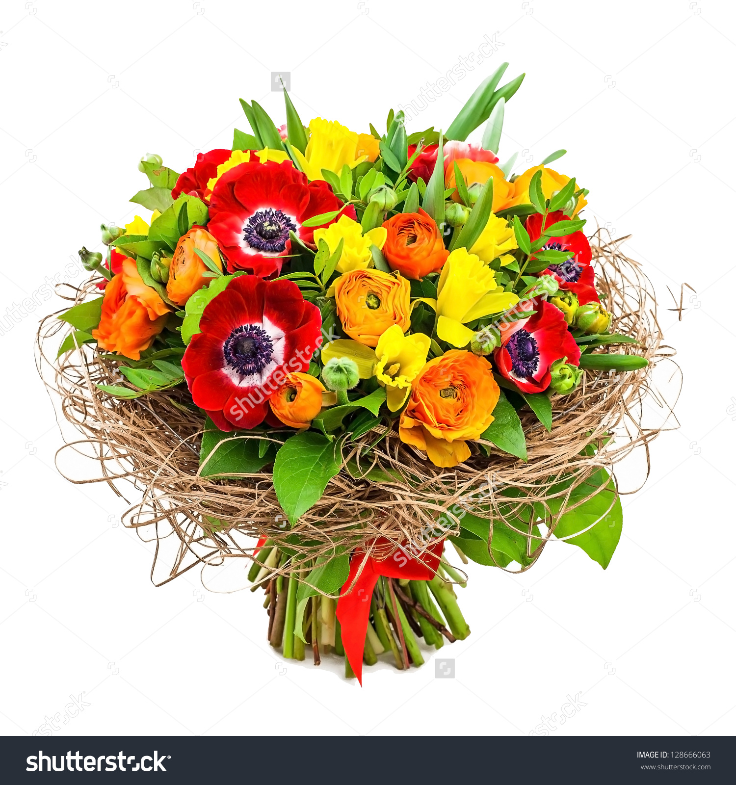 Bouquet Flowers Vase Stock Photo 128666063 - Shutterstock