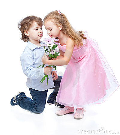 Little Boy And Girl In Love Stock Photo - Image: 14821680