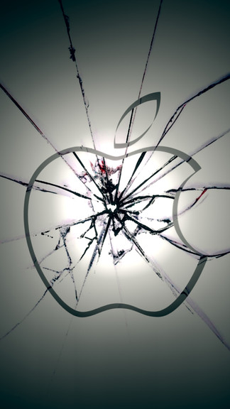 Apple Shattered Glass iPhone 5 / SE Wallpaper