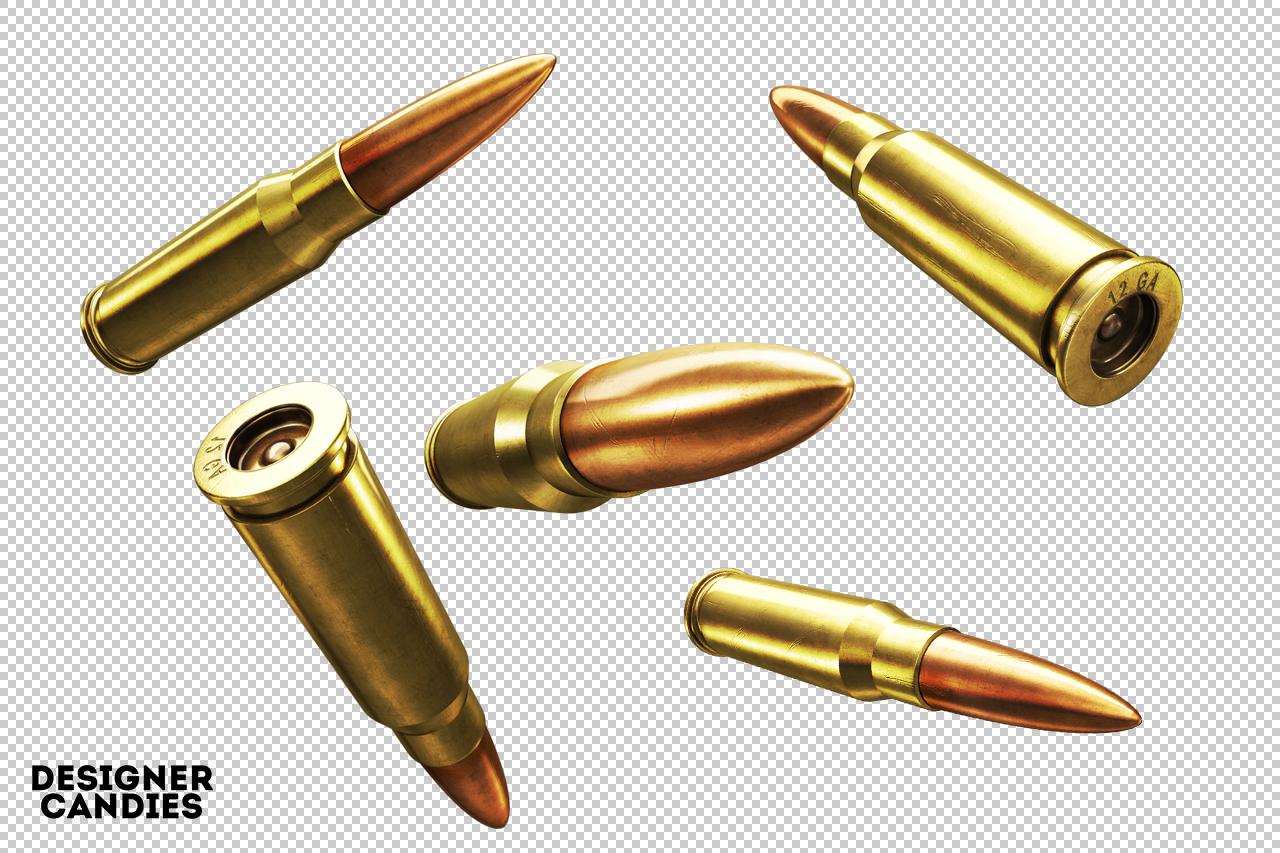 Free 3D Bullet Renders Pack - DesignerCandies