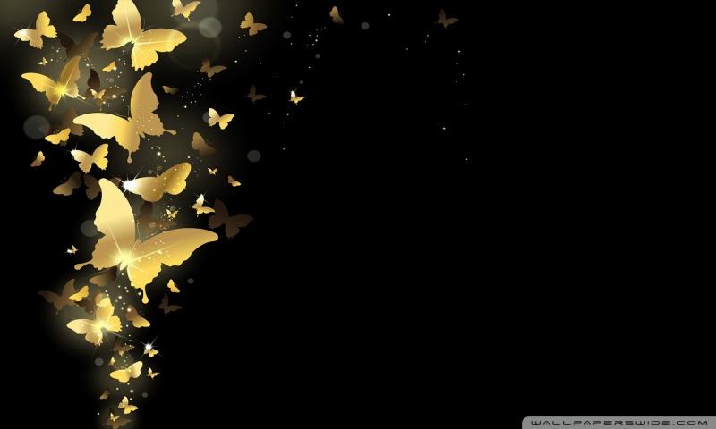 Golden Butterflies HD desktop wallpaper : Widescreen : High
