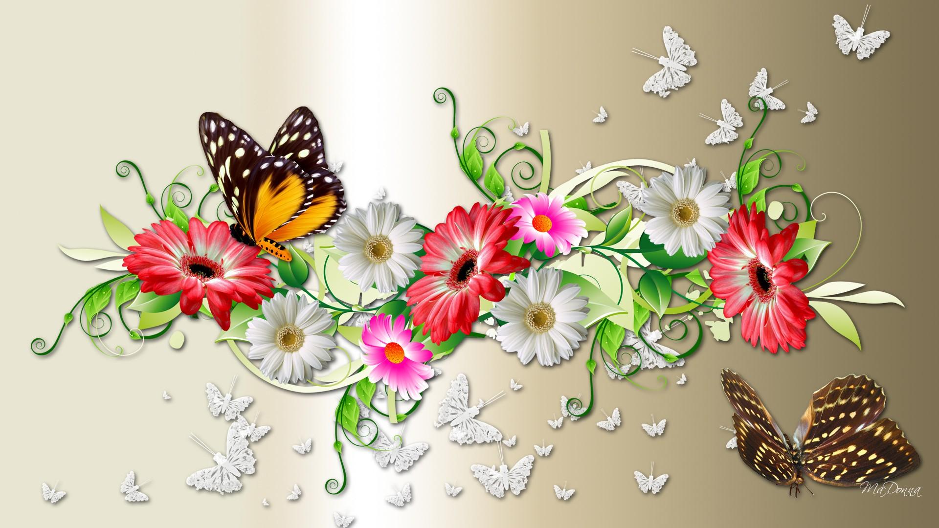 45 units of Butterflies Wallpaper