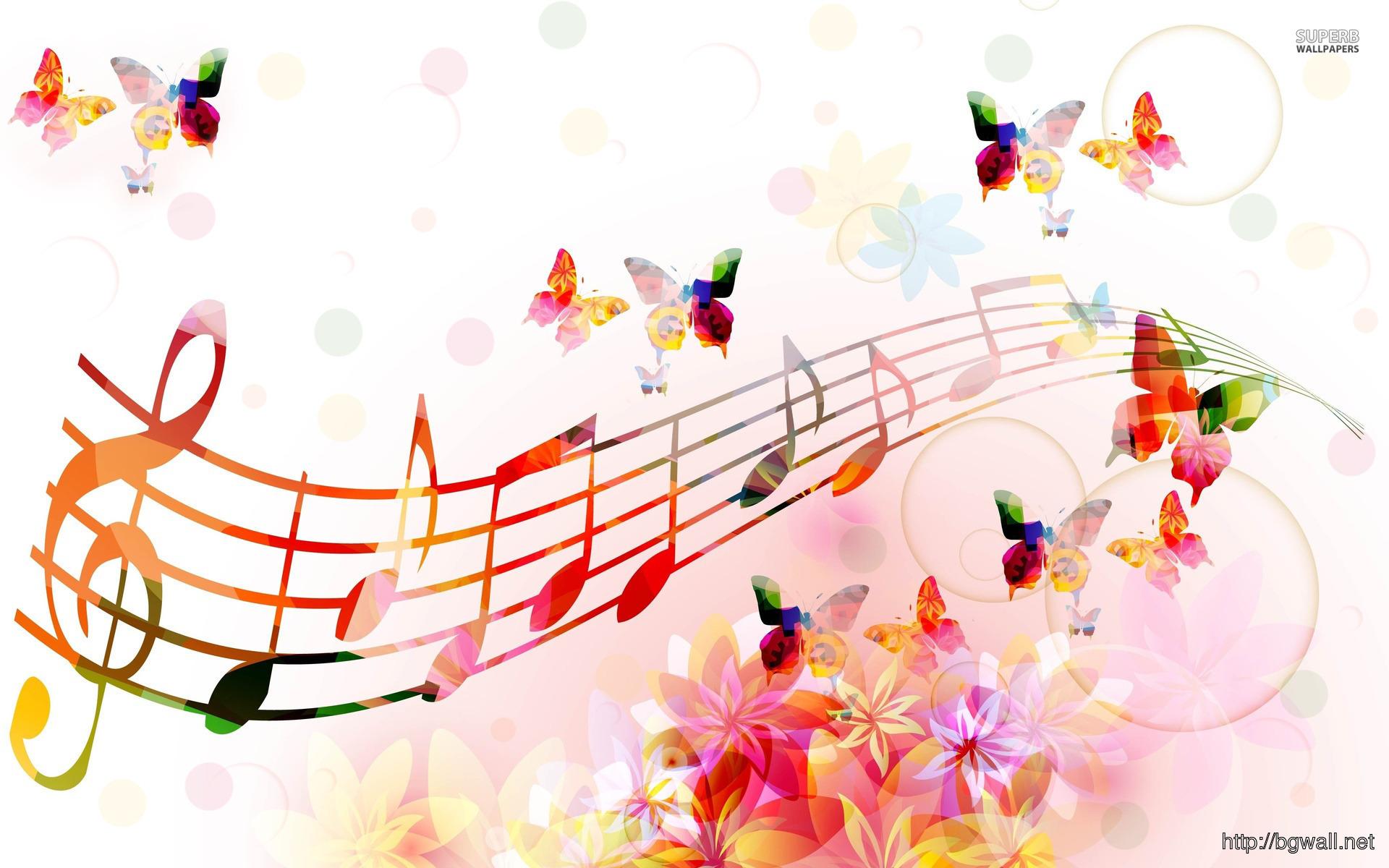Musical Notes Butterflies Wallpaper – Background Wallpaper HD