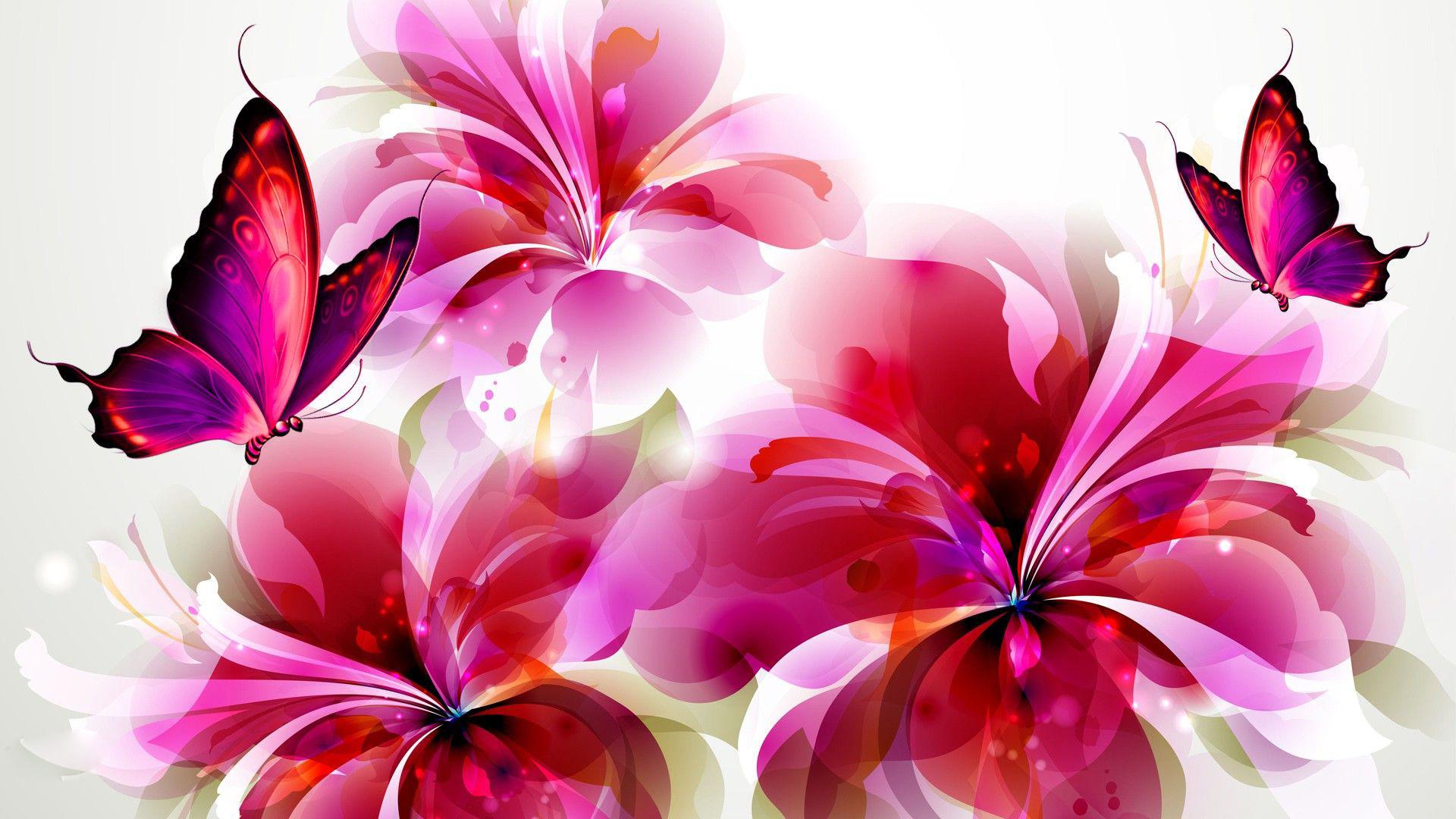 Butterfly And Flower Wallpaper - WallpaperSafari