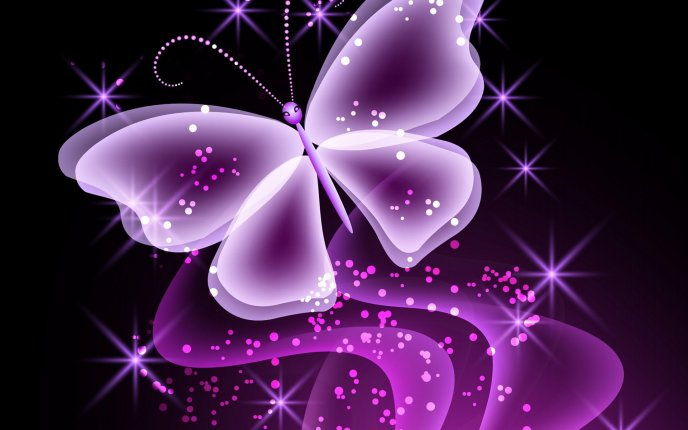 Abstract pink butterfly wallpaper