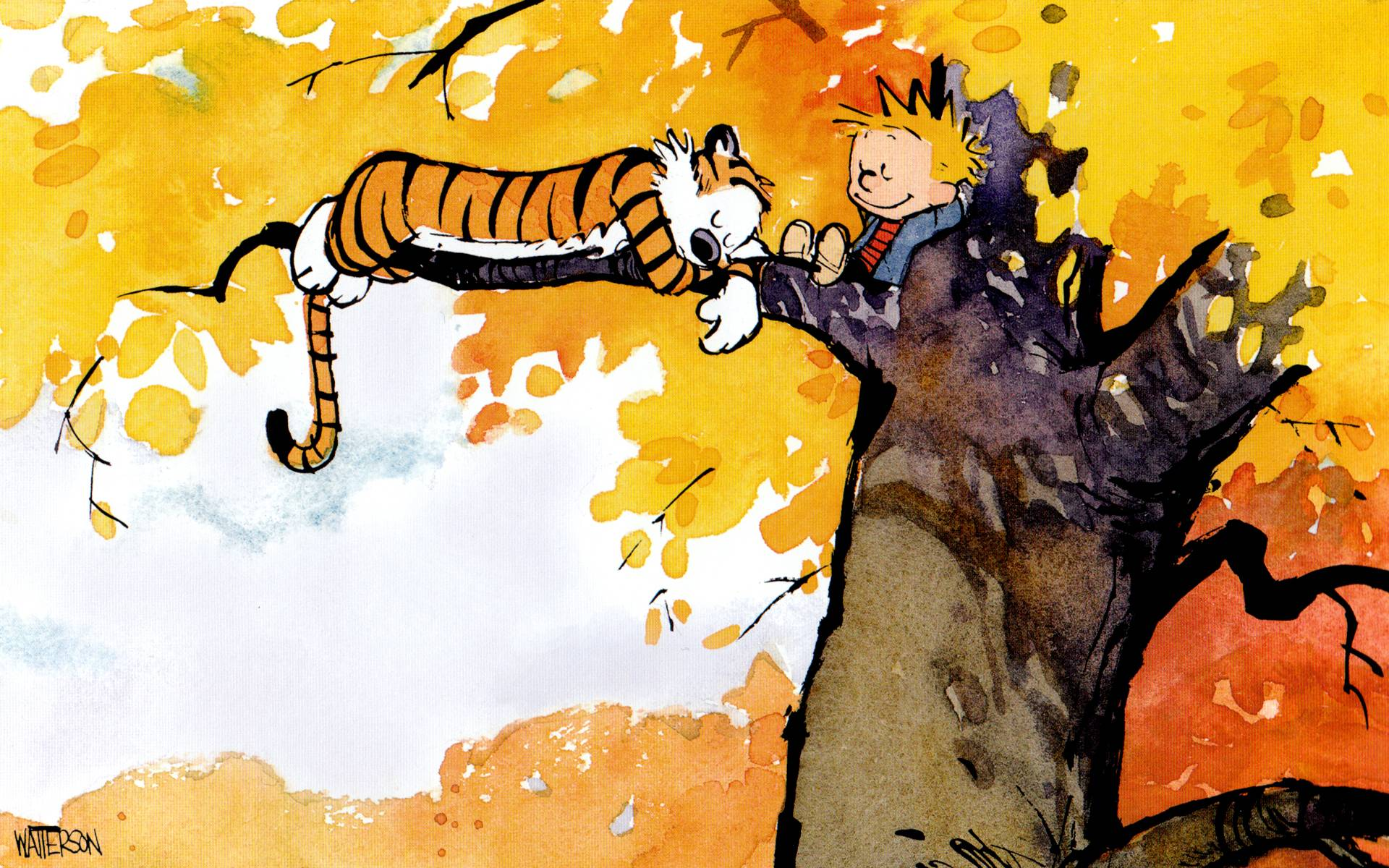 calvin and hobbes android wallpaper