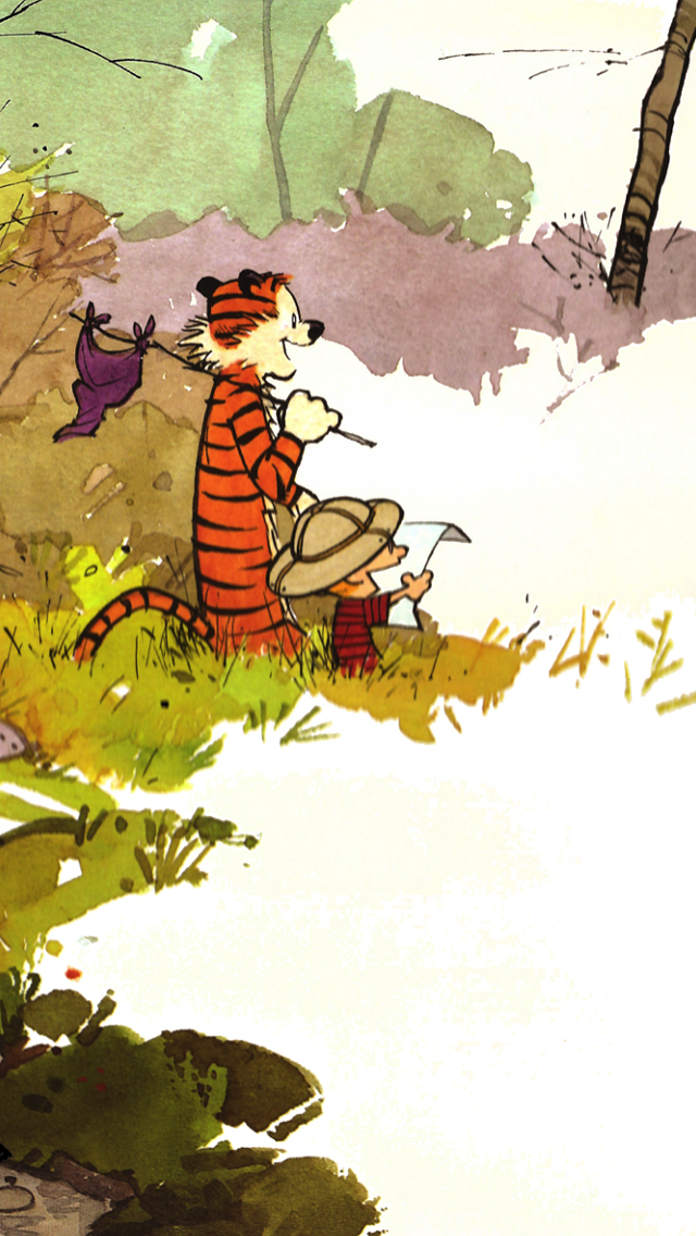 Calvin and Hobbes iPhone Wallpaper - WallpaperSafari