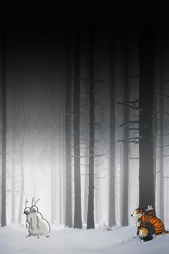 calvin-hobbes-hiding | download iPhone iPad wallpaper at freeios7