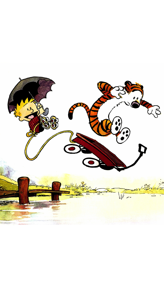 Download Calvin and Hobbes iPhone wallpaper