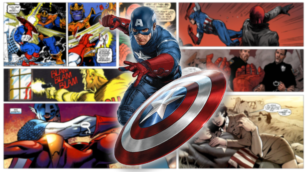 Captain America Comic Wallpaper by Maestro221 on DeviantArt