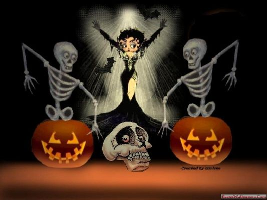 Halloween Cartoon Wallpaper Free HD Backgrounds Images Pictures