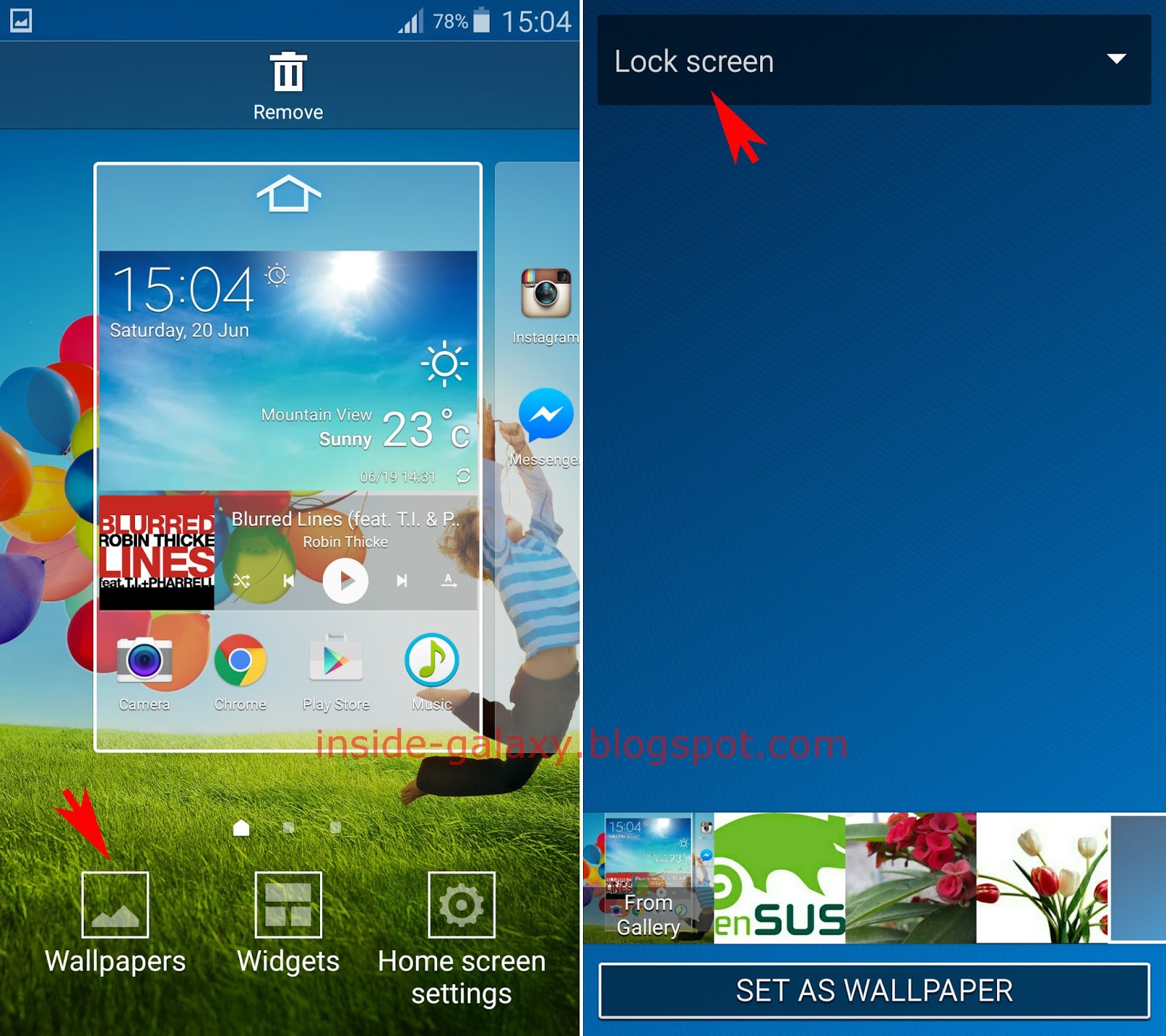 Inside Galaxy Samsung S4 How To Change Lock Screen Src