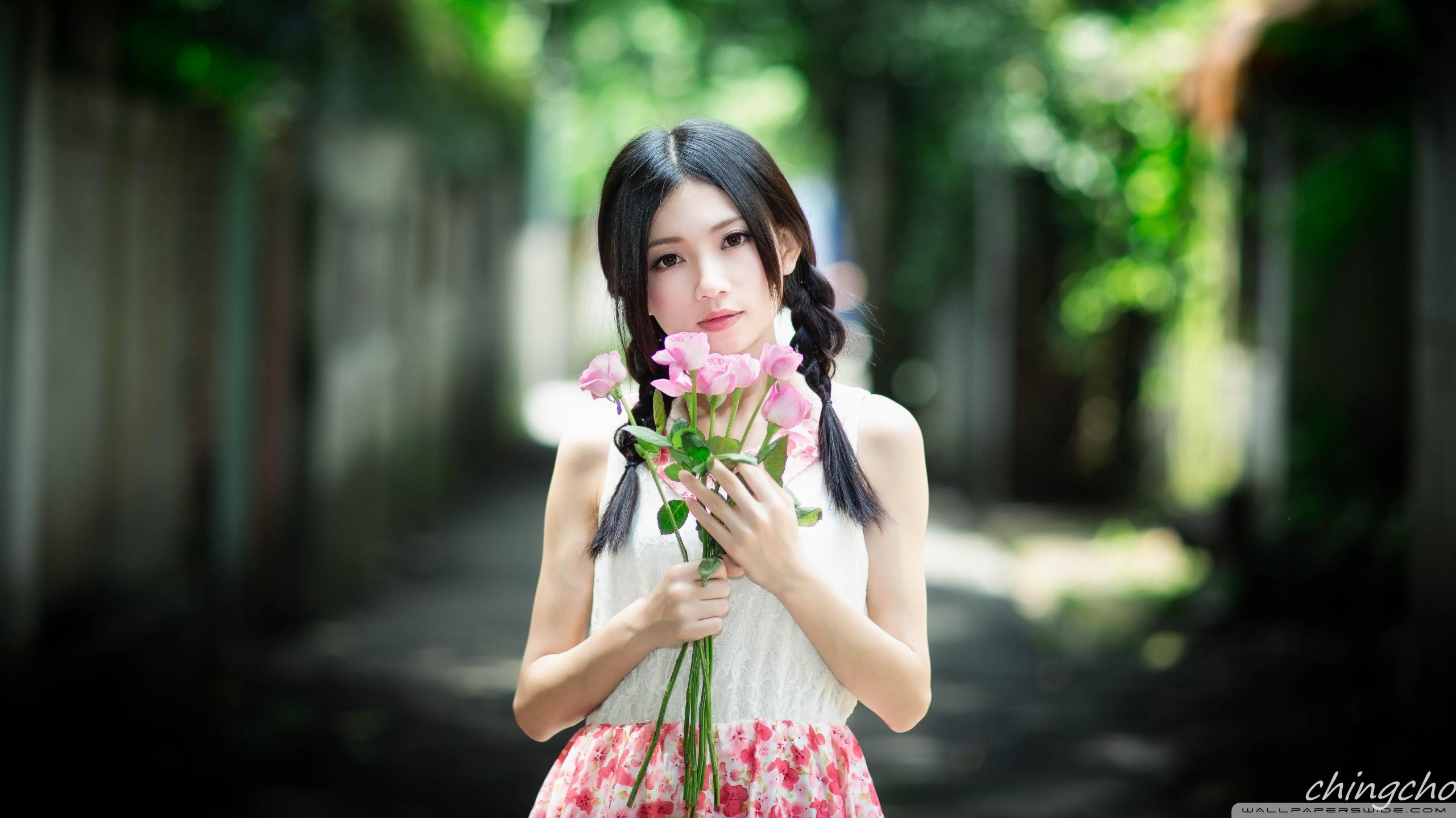 Cute Asian Girl HD desktop wallpaper : Widescreen : High