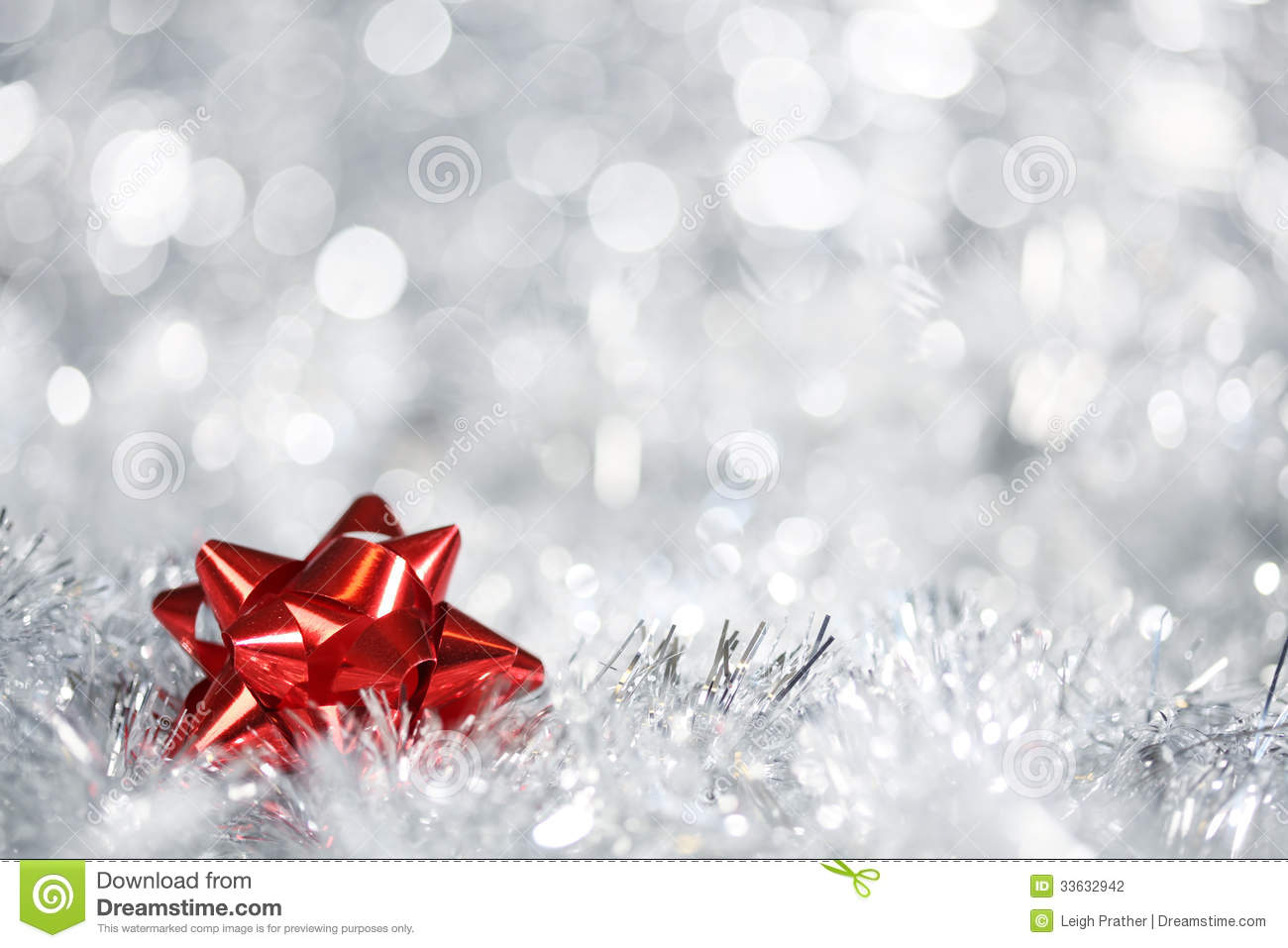 Silver Christmas Background Stock Photography - Image: 33632942