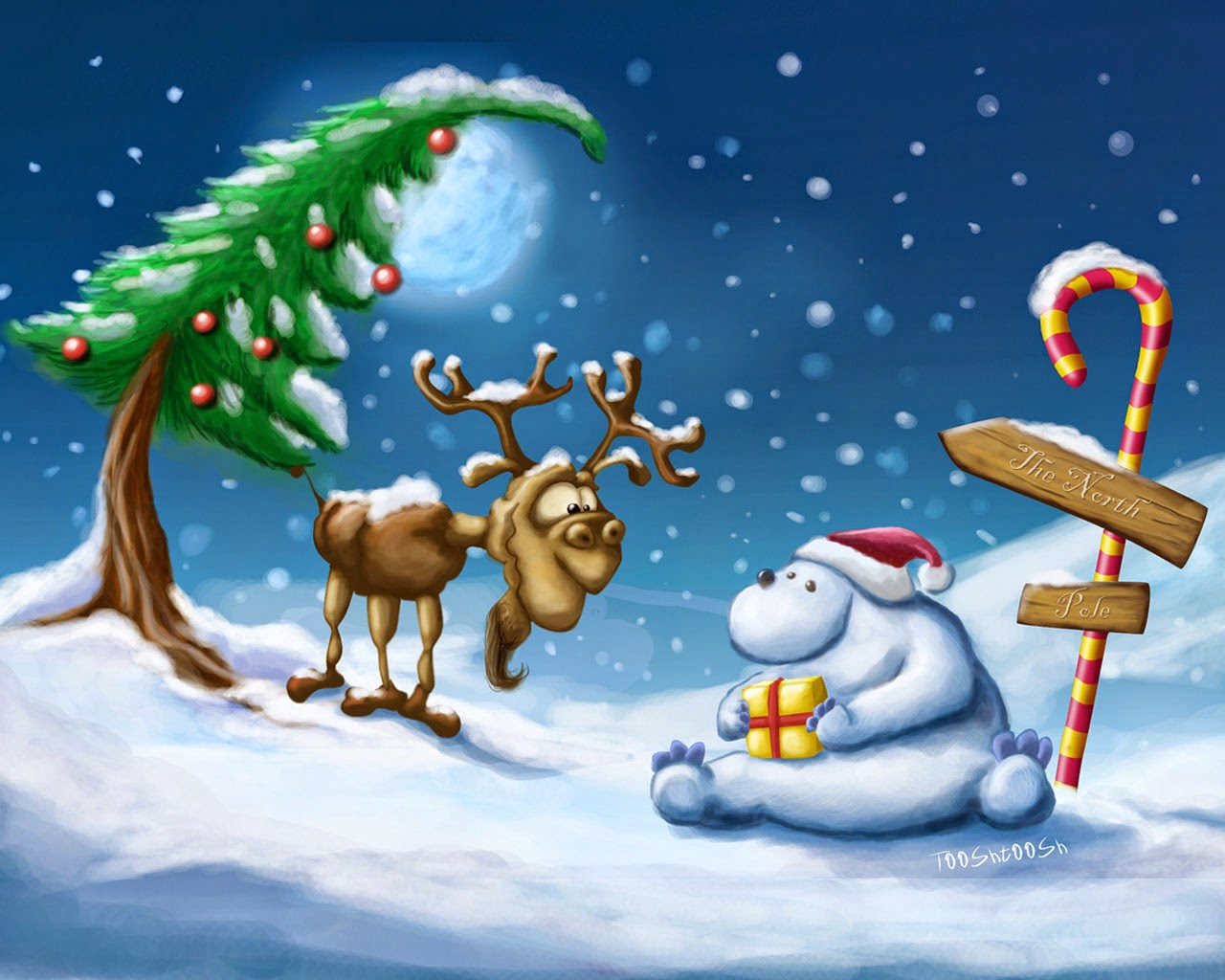 Christmas cartoon animation children images pictures for kids