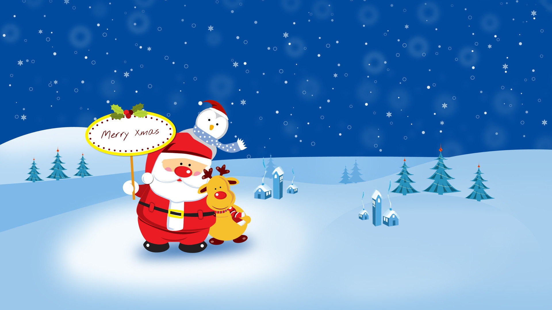cute cartoon christmas images | Cute Cartoon Christmas Wallpaper