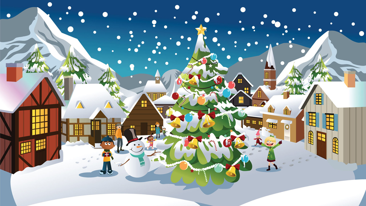 Christmas Cartoon Wallpapers Group (78+)