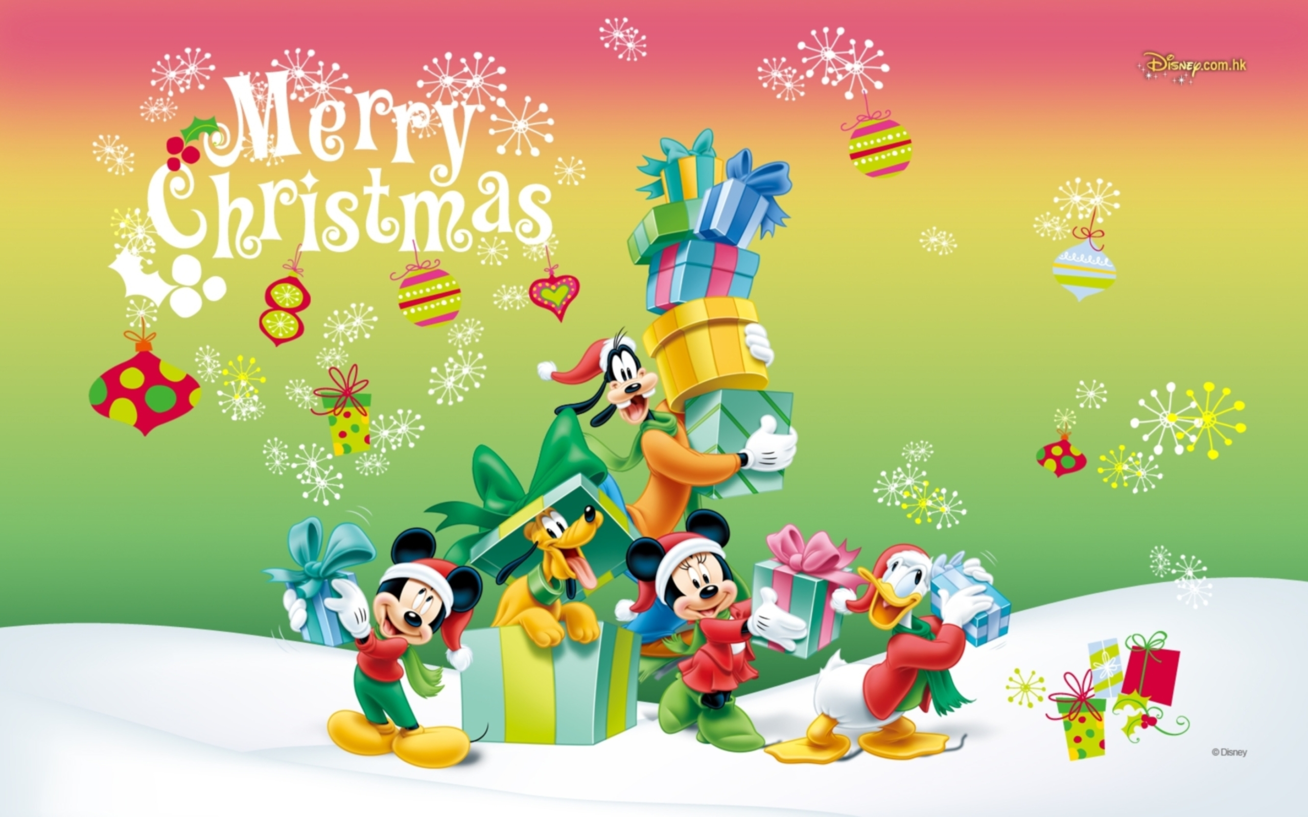 Christmas Cartoon Wallpaper - WallpaperSafari