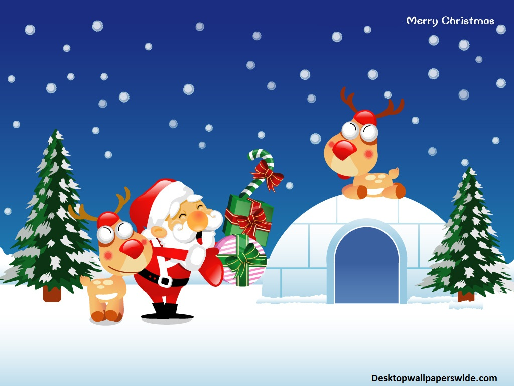 Christmas Cartoon Wallpaper for Desktop - WallpaperSafari