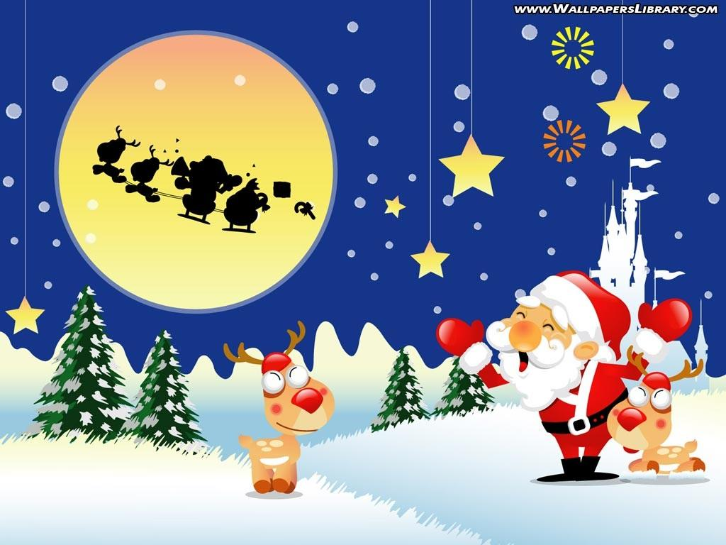 Collection of Christmas Cartoon Wallpaper on HDWallpapers