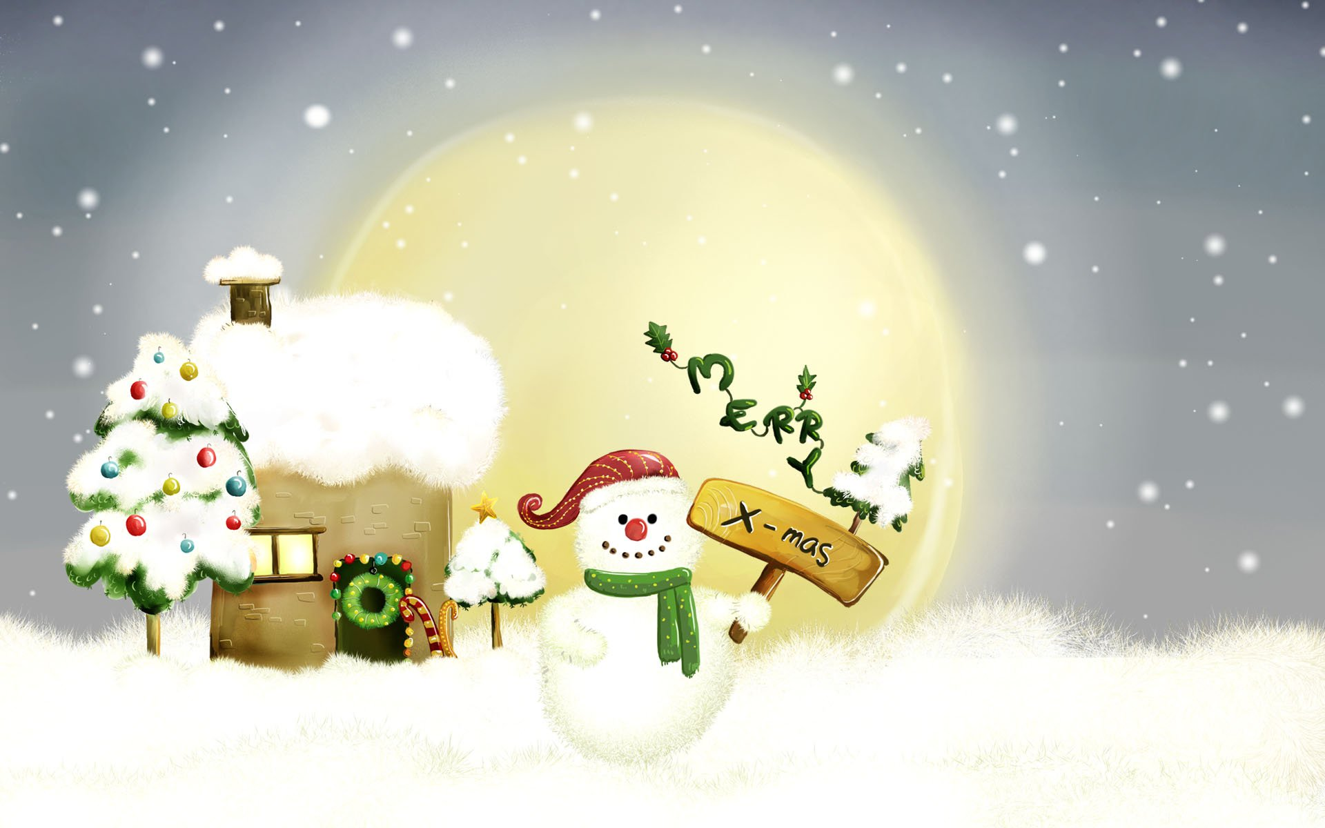 Christmas Cartoon Wallpapers | WallpapersIn4k net