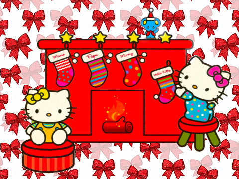 1000+ images about Hello kitty christmas wallpaper on Pinterest