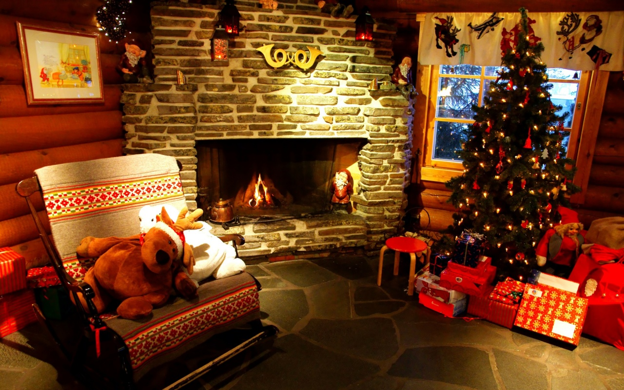 Christmas Fireplace Wallpaper Hd Widescreen 57420 Loadtve