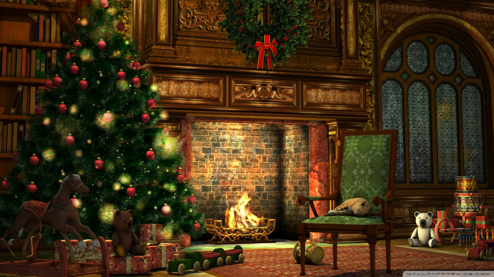Christmas home wallpaper - SF Wallpaper