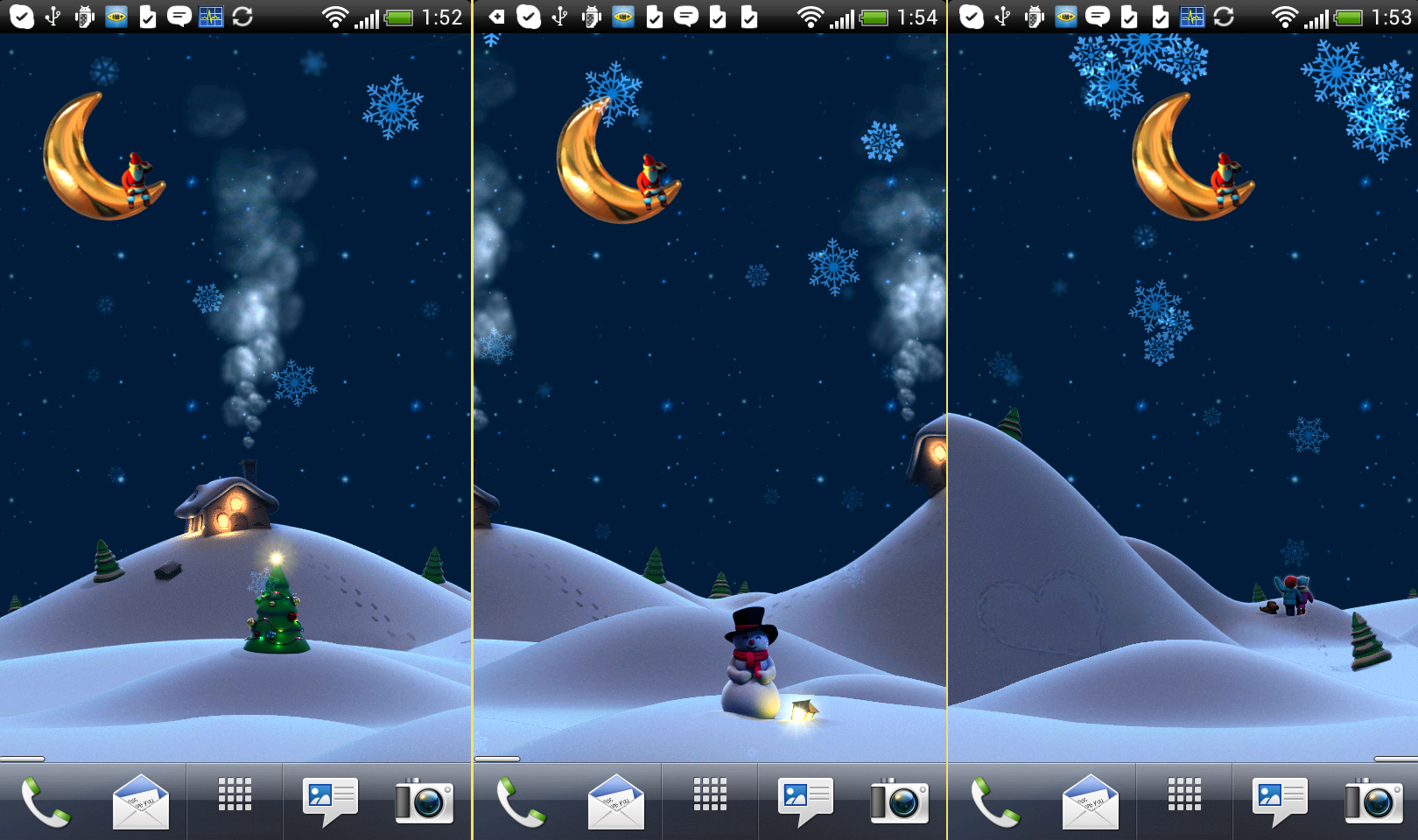 Our work for Android - Christmas Live Wallpaper