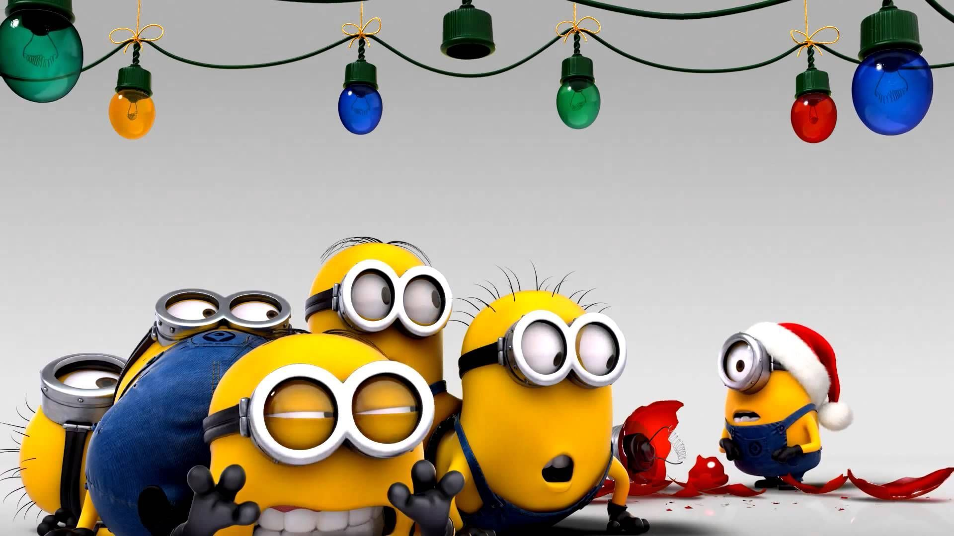 ... Merry Christmas Personalise Name · Christmas Minions Wallpapers Group  47 ...
