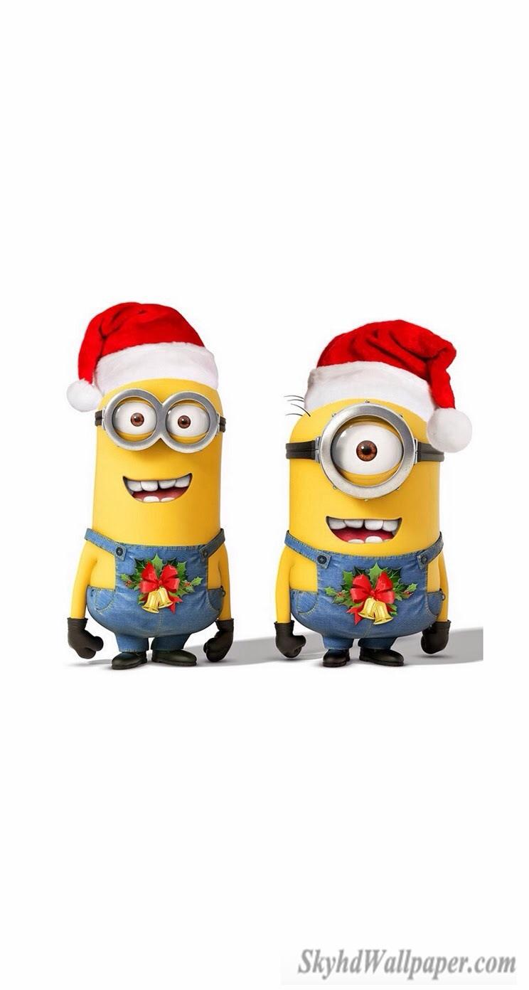 Christmas Minions Wallpaper