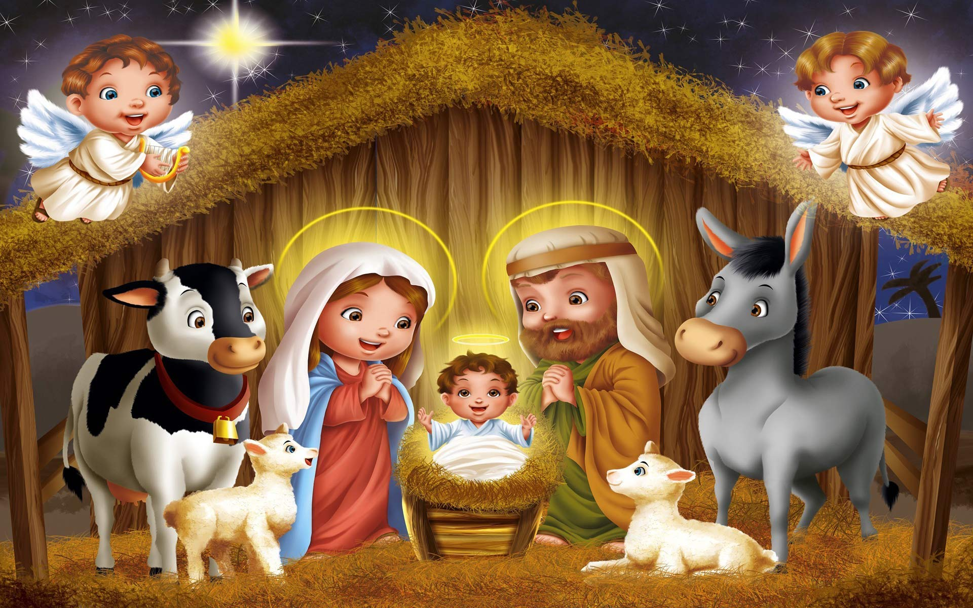 Christmas Nativity Scene Wallpaper - WallpaperSafari