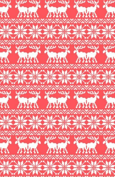 Ugly Christmas Sweater Moose Pattern Infra Red Art Print ... src