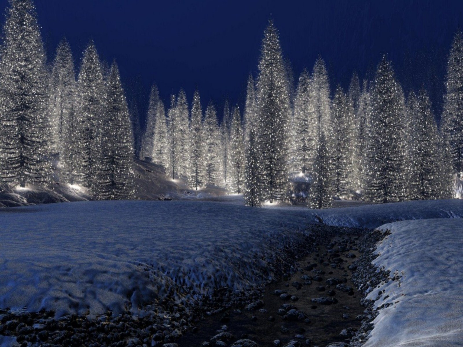 christmas scenery | Free Download HD Snowy Christmas Scene