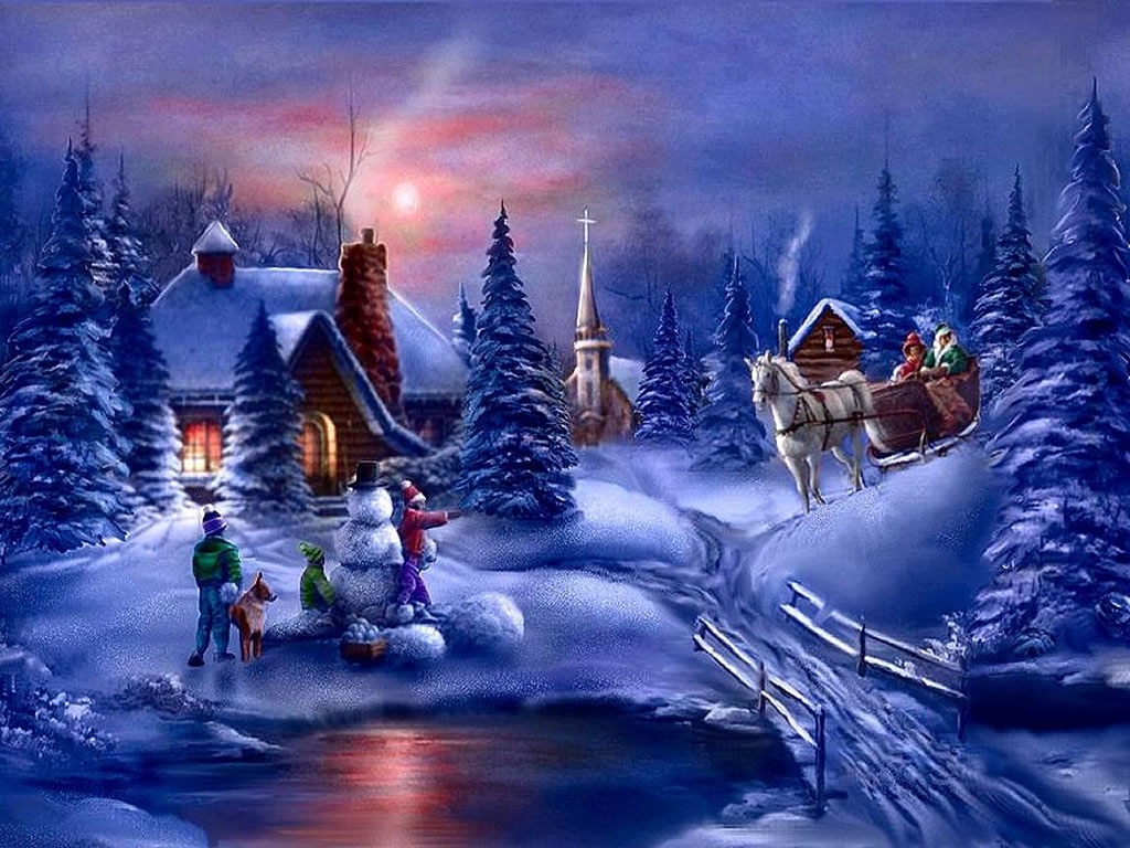 Winter Backgrounds Scenes Group (61+)