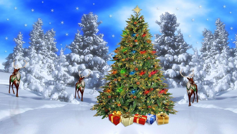 christmas scenery wallpaper - sf wallpaper