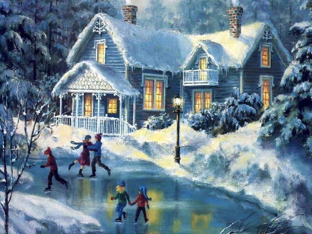 Christmas Winter Scenes | Free Desktop Wallpaper Winter Scenes
