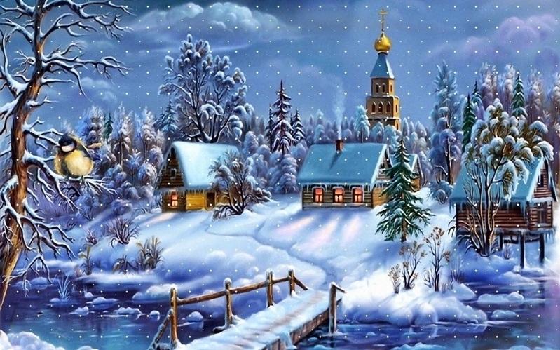 Christmas scenery wallpaper