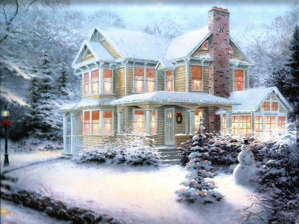 Christmas winter scenes wallpaper free - SF Wallpaper