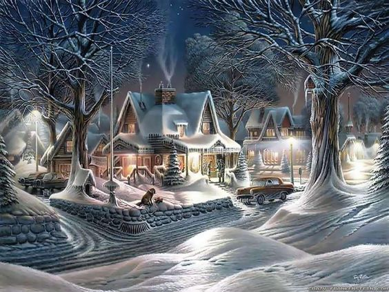 Christmas scenes wallpapers