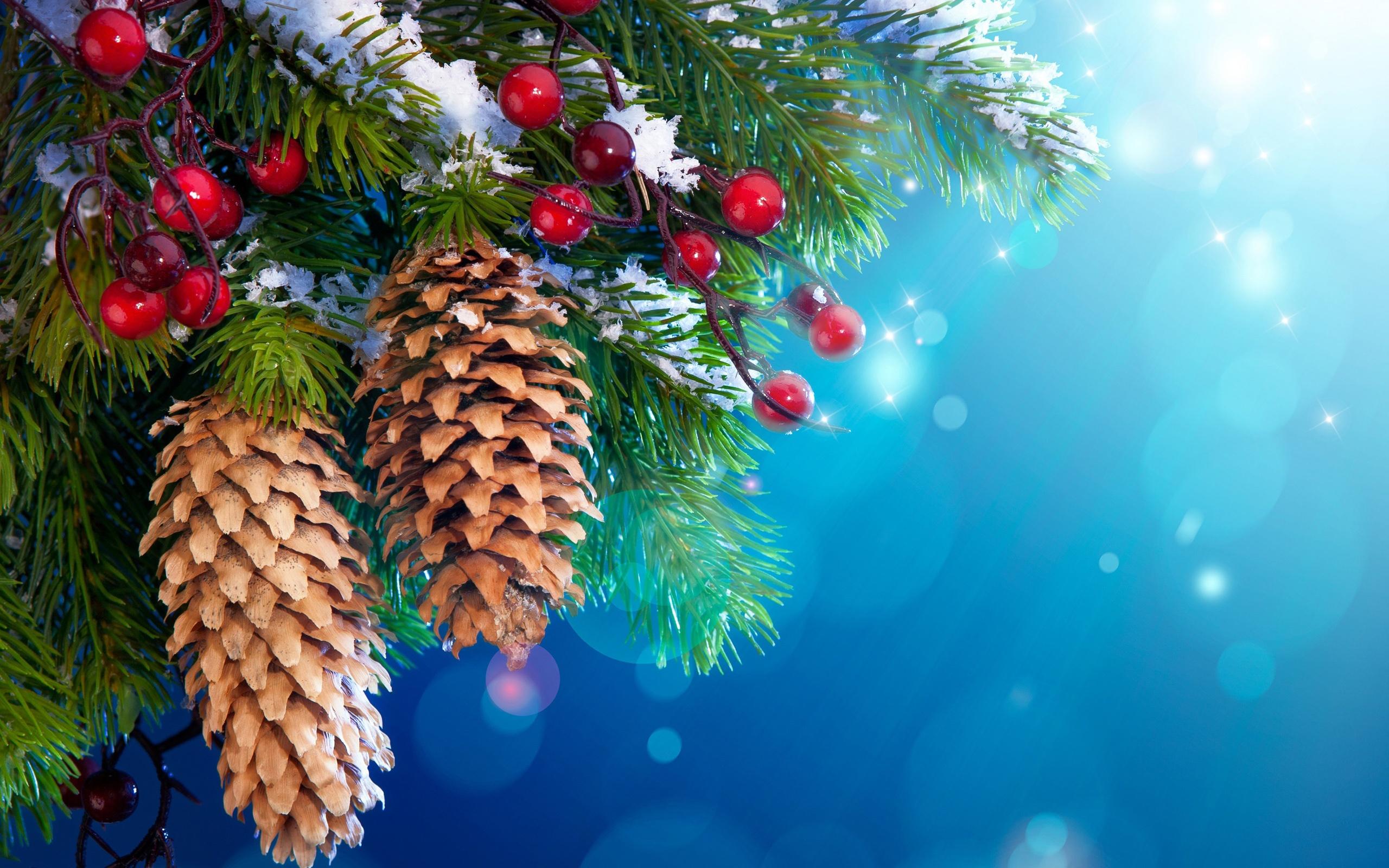 Christmas Tree Snow Wallpaper Page 1