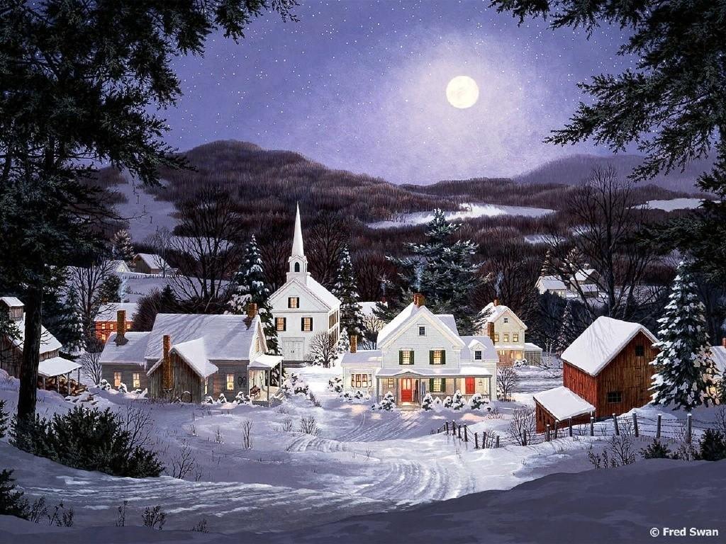christmas village wallpaper sf wallpaper