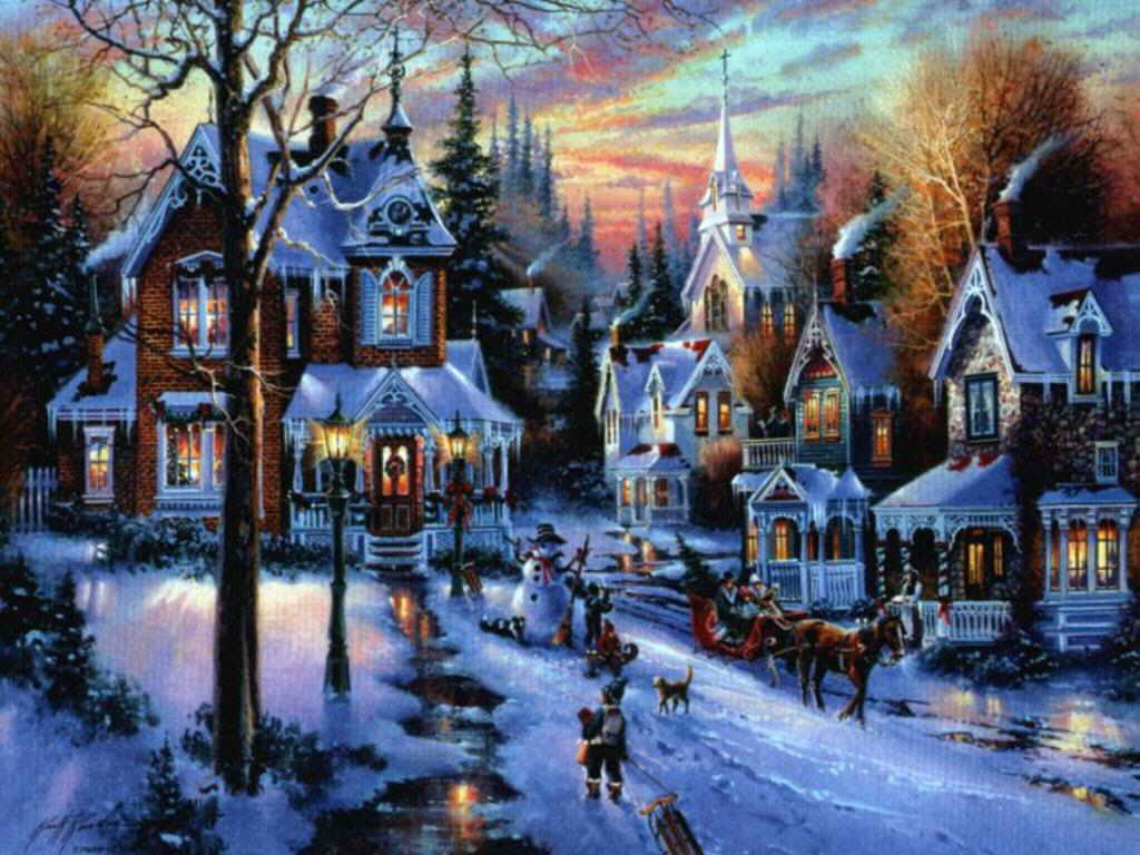 christmas village wallpaper - sf wallpaper