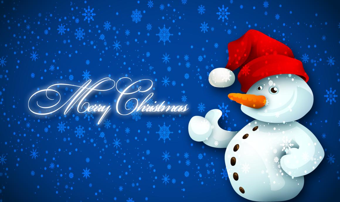 Christmas wallpaper snowman