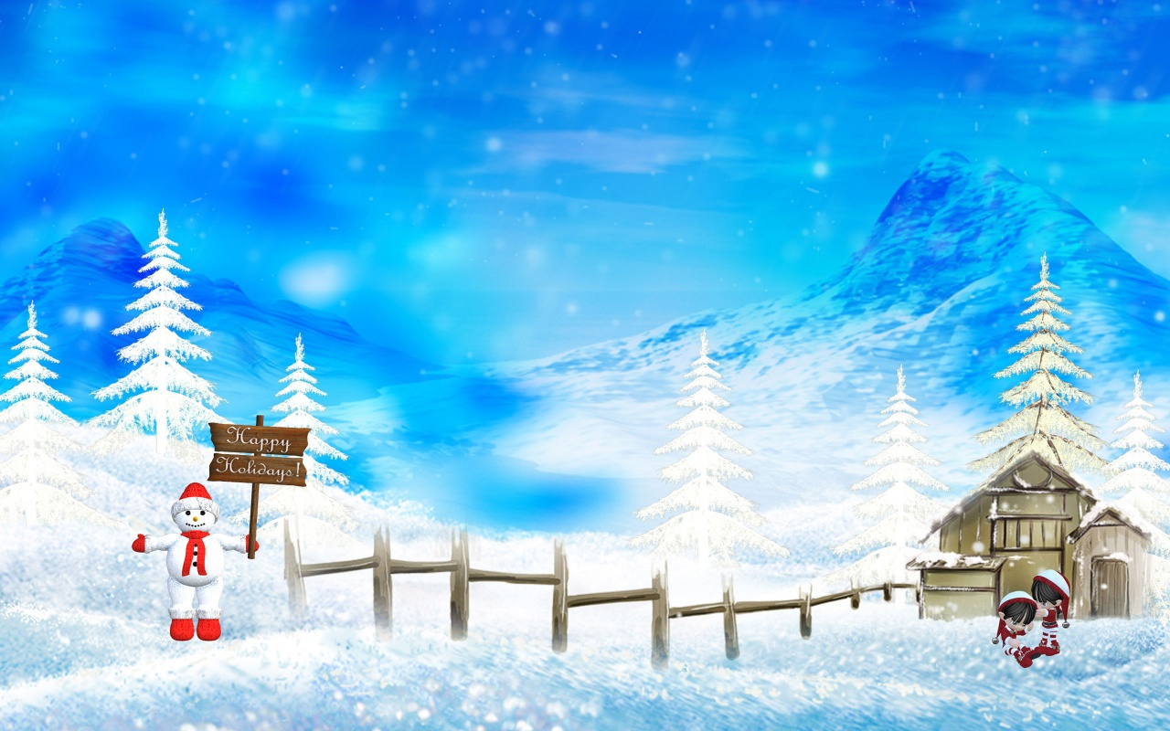 Happy holidays christmas winter Free PPT Backgrounds for your